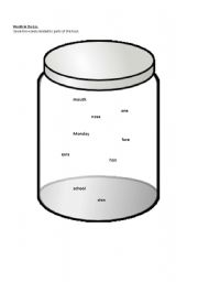 English Worksheets: Jar of words (face related)