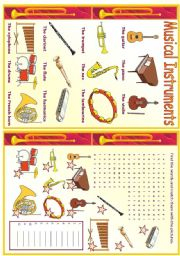 English Worksheets: Musical Instruments