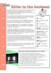 English Worksheet: Urban legends: Killer in the backseat