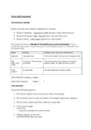 English Worksheets: Murder Mystery with Modals of Speculation (Present/ Past)
