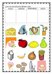 English worksheet: Food and Drinks Revision
