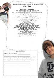 English Worksheets: Justin Bieber Part II