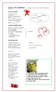 English Worksheet: I´m a believer - (Shrek Soundtrack)