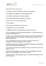 English Worksheet: ielts writing