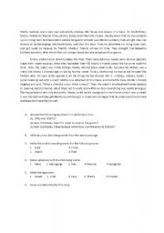 English Worksheets: Questions on a passage