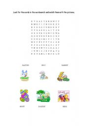 English Worksheet: Easter vocabulary activities