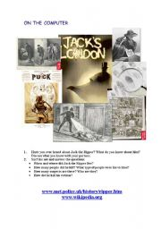 English Worksheets: ON THE COMPUTER: JACK THE RIPPER