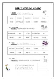 English Worksheets: words!