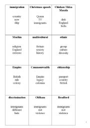 English Worksheet: Tabu game US & GB