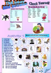 English Worksheets: Check Yourself - The Body and Actions (Part 1)