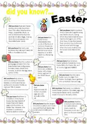English Worksheets: did you know that.. Easter