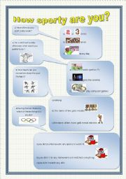 English Worksheets: how sporty are you?