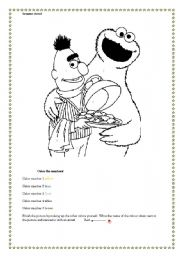 English Worksheets: Sesame street Colouring