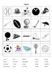 sports types sport worksheets worksheet english esl vocabulary cards eslprintables level teaching age elementary play