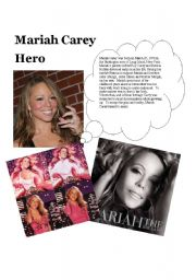 English Worksheet: Hero by Mariah Carey