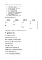 English Worksheet: Possessives for young/adults