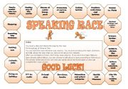 English Worksheet: Board Game: Speaking Race