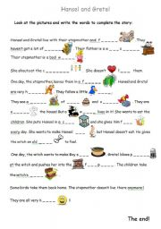 Reading worksheets > Tales and stories > Hansel and Gretel