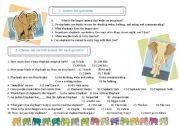 English Worksheets: Elephants. Tasks