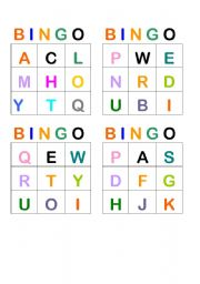 graphic about Letter Bingo Printable titled Alphabet bingo worksheets