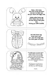 English Worksheets: Easter - colour by the poem (editable)