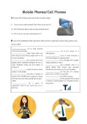 English Worksheet: Buying a Mobile Phone