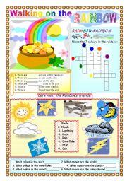 English Worksheet: Walking on the Rainbow