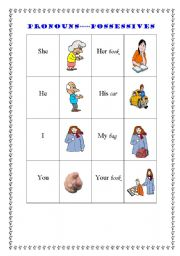 English worksheet: possesive ad-jective-s--