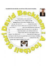A text about David Beckham