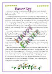 English Worksheet: Easter Egg