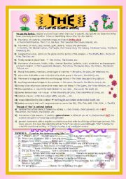 English Worksheet: THE DEFINITE ARTICLE: Complete Grammar guide + exercises for Intermediate Students (with Key)