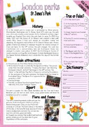 English Worksheet: ST JAMES PARK