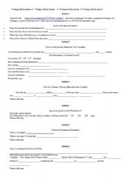 English Worksheet: Washington D.C. webquest