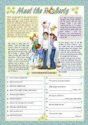 English Worksheet: MEET THE ROBERTS