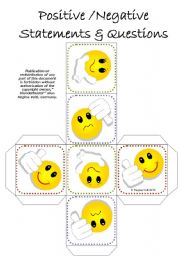 English Worksheets: All Tenses Practice Cube / Dice - Positive / Negative Statements & Questions (by blunderbuster)