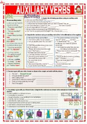 English Worksheets: Auxiliary verbs