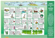 English Worksheet: 5 PAGES - EAT GREEN + JUNE CALENDAR (riddles, tips,..) READING + SPEAKING