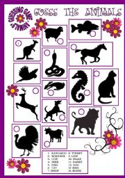 English Worksheets: GUESSING GAME - ANIMALS