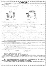 English Worksheet: the complex object