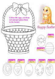 English Worksheet: easter egg�s basket