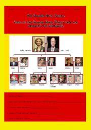 English Worksheet: SPANISH ROYALTY - FAMILY TREE - 22 SENTENCES - 2 PAGES
