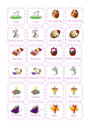 English Worksheet: Easter - Memory Game