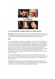 English Worksheets: The Holiday (Film)