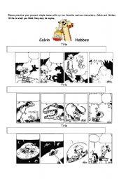 English Worksheets: Calvin and Hobbes