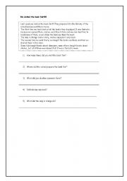 English Worksheets: We visited the bok fair