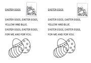 English Worksheet: easter eggs