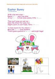 English Worksheet: Easter Bunny Poem