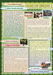 English Worksheet: Signs of Spring 2 (Spring Traditions)