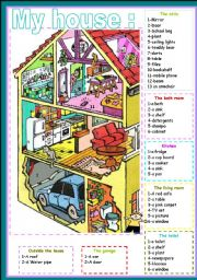 English Worksheets: my house