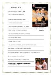 English Worksheets: SIMON BURCH
